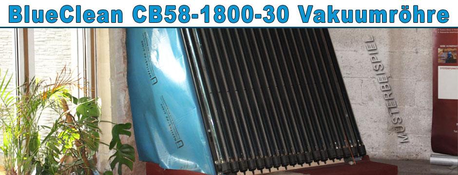 blueclean cb58 1800 30 vakuumr hre solarkollektor solaranlage r hrenkollektor ebay. Black Bedroom Furniture Sets. Home Design Ideas