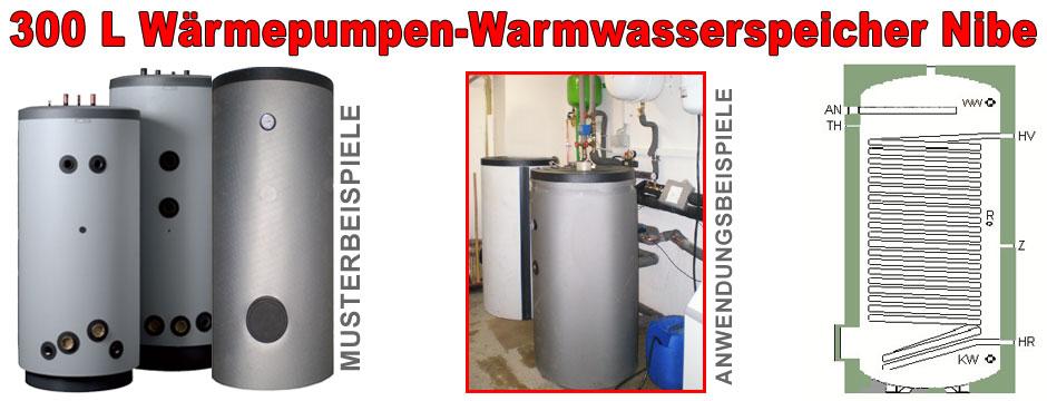 300l warmwasser speicher w rmepumpen nibe zubadan ebay. Black Bedroom Furniture Sets. Home Design Ideas